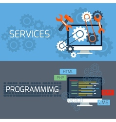 Concept for services and programming vector