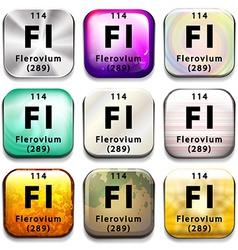 A periodic table showing flerovium vector