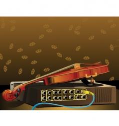 Violin and amplifier vector