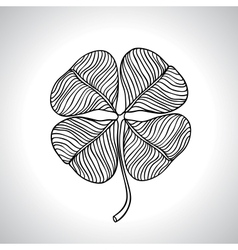 Black macro clover leaf natural isolated vector