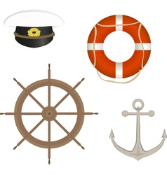 Range of marine accessories vector