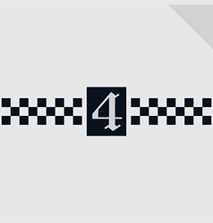 Gothic numbers vector