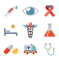 Health and medical icons set vector