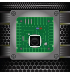 Cpu on the motherboard vector