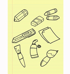 Freehand drawing drawing tools set vector