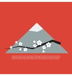 Sakura blossom greeting card vector