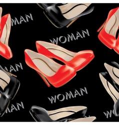 Womens high heel shoes seamless pattern vector