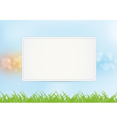 Sign on summer background vector