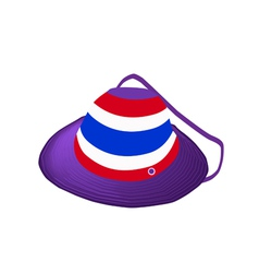 A straw hat of thai flag on white background vector