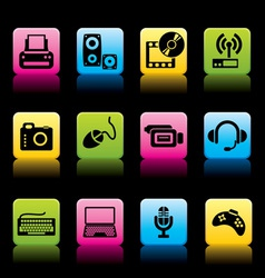 Devices icons color vector
