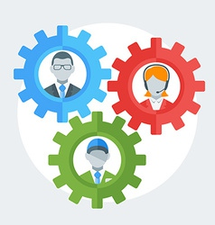 Human resource management concept in flat d vector