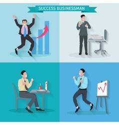 Successful businessman set vector