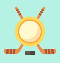 Empty hockey emblem vector