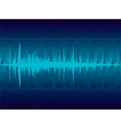 Audio waveform background vector