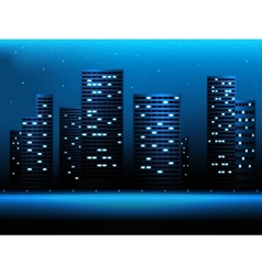 Night city landscape vector