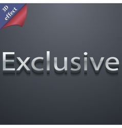 Exclusive icon symbol 3d style trendy modern vector