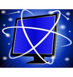 It computer screen vector