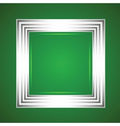 White frame on a green background vector