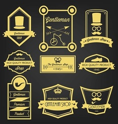 Gentleman shop vintage label vector