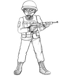 A simple sketch of a soldier vector