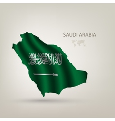 Flag of saudi arabia as the country vector