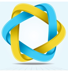 Impossible infinite ribbon star two triangles vector