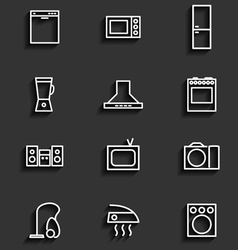 Household appliances icons 2 vector