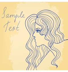 Beautiful girl card vector