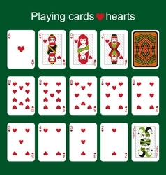 Playing cards hearts vector