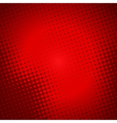 Creative halftone in red background vector