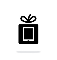 Gift tablet pc icon on white background vector