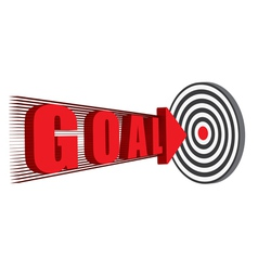 Goal hitting the target vector