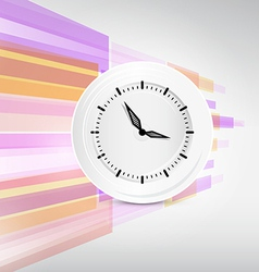 Paper clock on modern abstract background vector