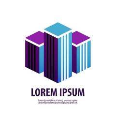 Commercial property real estate logo icon design vector