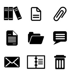 Computer message icons vector