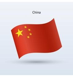 China flag waving form vector