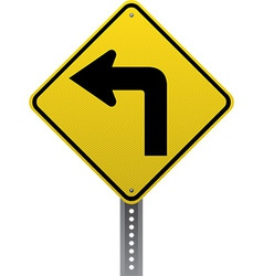 Sharp turn sign vector
