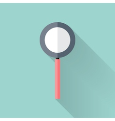 Flat loupe icon over mint vector