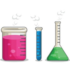 Laboratorium chemical flask vector