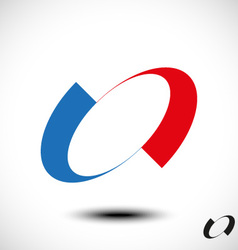 Abstract letter o icon vector