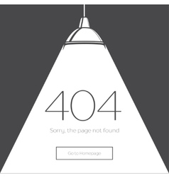 404 error page in retro-style vector