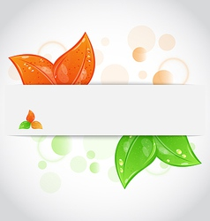 Autumn seasonal nature background with changing vector