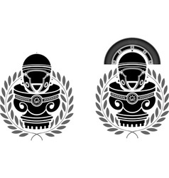 Pedestals of roman helmets vector