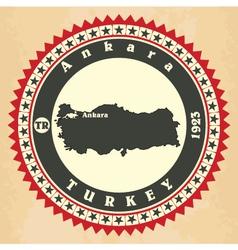 Vintage label-sticker cards of turkey vector