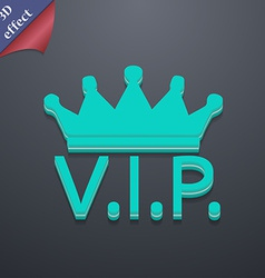 Vip icon symbol 3d style trendy modern design with vector