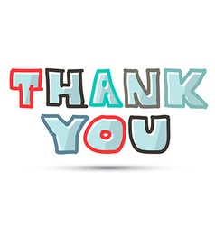 Thank you title on white background vector