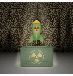 Army background with nuclear weapon vector