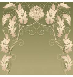 Background floral vector