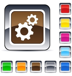 Tools square button vector