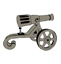 Old cannon vector